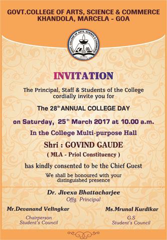 invitation � xxviii annual college day